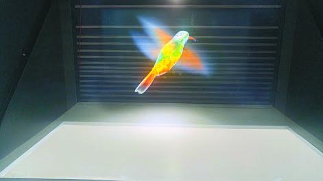 [별별과학] 3차원 영상 재현하는 홀로그램 기사의 사진