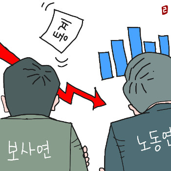 [한마당- 배병우] 강신욱 청장과 홍민기 위원 기사의 사진