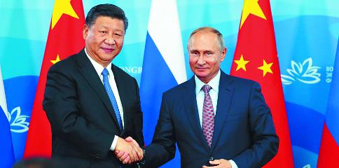 """시진핑-푸틴 """"美-中 무역전쟁 공동 대처"""" 기사의 사진"""