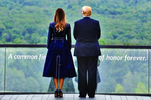 """트럼프, 9·11 추모식서 """"악마에 맞설 것"""" 기사의 사진"""