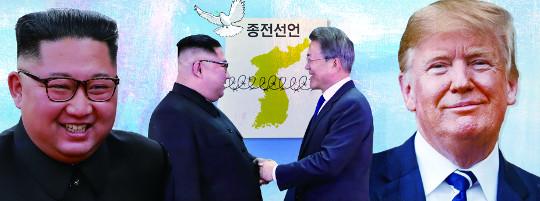 다시 꿈틀대는 종전선언, 성과 절실한 북, 핵 리스트 받아내려는 미 기사의 사진