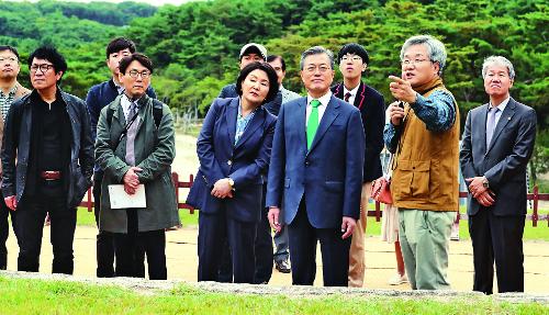 [포토] 세종대왕 영릉 찾은 문 대통령 기사의 사진