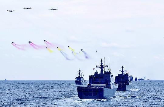 [포토] '제주 국제관함식' 연습 기사의 사진