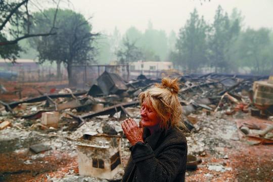 캘리포니아州 사상 최악 산불  '파라다이스'가 폐허로… 25명 숨져 기사의 사진