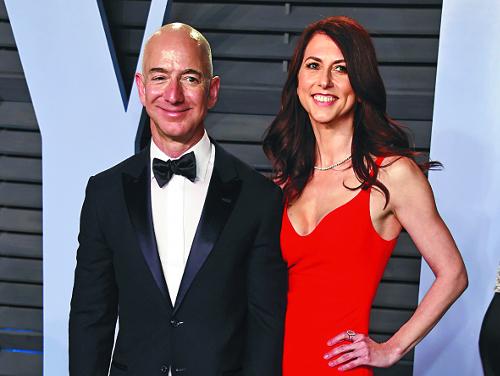 153조원 세계 최고 부자 아마존 제프 베이조스의 '비싼 이혼' 기사의 사진