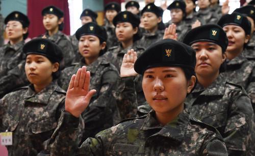 [포토] 국군간호사관학교 입소식 기사의 사진