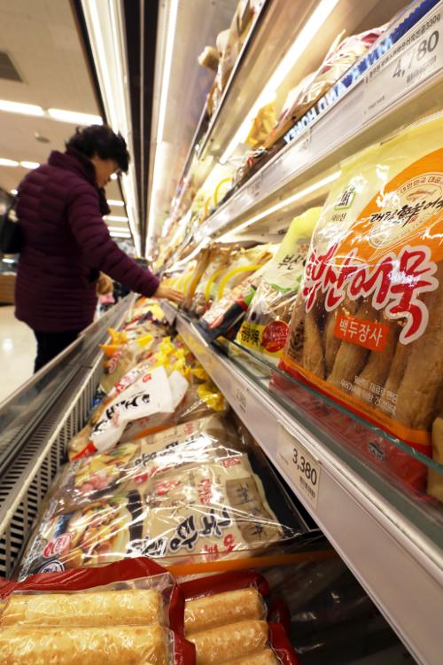 [포토] 가공식품 가격 1년 새 최대 13% '껑충' 기사의 사진
