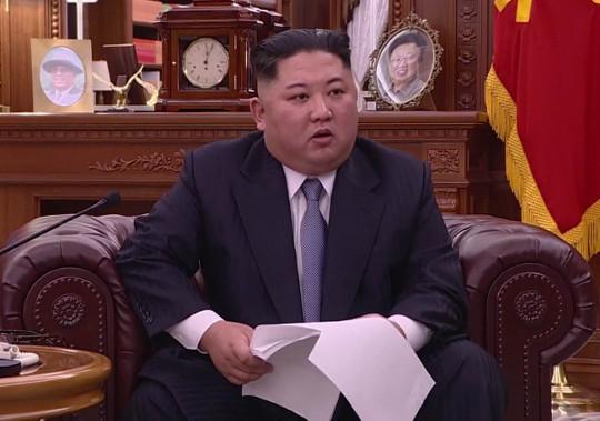 """노동신문 """"돌아서거나 물러설 길 없다""""… 김정은 핵 결단 부각 기사의 사진"""