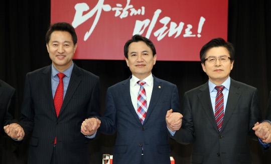 '통합'교안-'중도'세훈-'의리'진태 한국당 당권 3인 키워드 기사의 사진