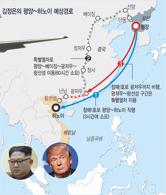김정은, 4000km 열차 대장정 감행할까… 열차+참매 혼용이 현실적 기사의 사진