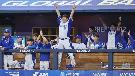 프리미어12 3연승 한국, 조 1위로 도쿄로 간다